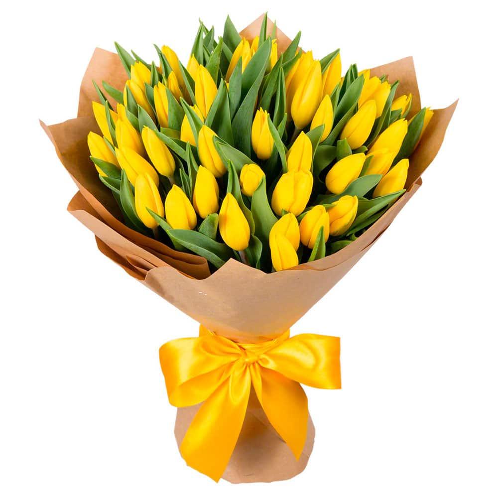 Букеты из тюльпанов купить в спб недорого